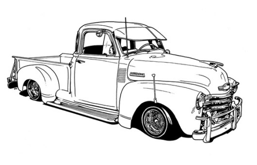 Lowrider Vehicle Coloring Sheet