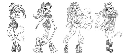 Monster High Groups Coloring Sheets To Print