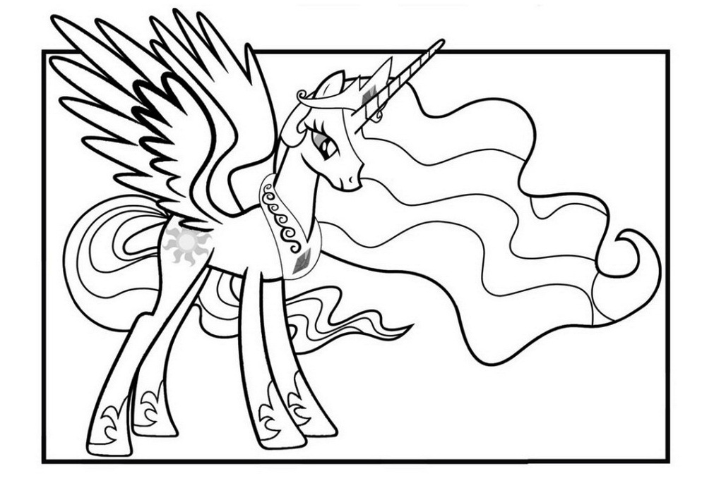 Fancy Princess Celestia Coloring Pages Embellishment - Ways To Use ...