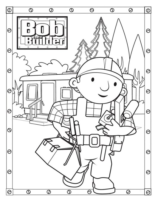 bob the builder coloring pages coloring pages