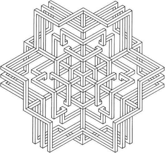 Printable Geometric Coloring Sheets