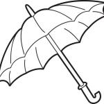 Printable Umbrella Coloring Page