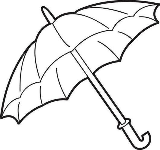 Printable Umbrella Coloring Page