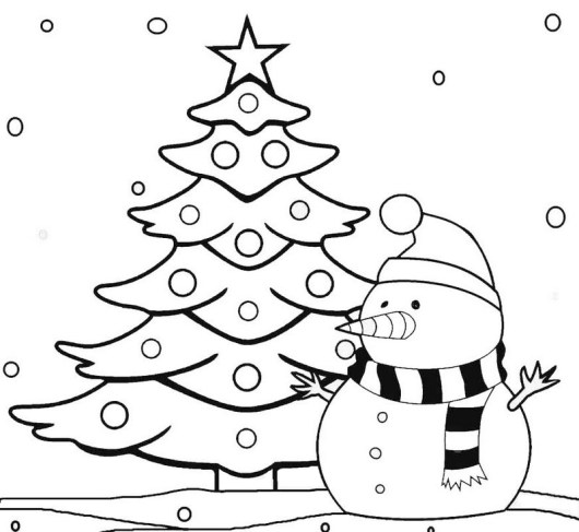 christmas girl snowman coloring pages - photo#40