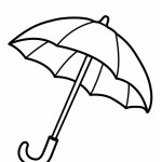 Umbrella Coloring Sheet For Kids