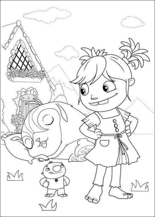 wallykazam nick jr coloring page