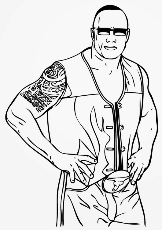 wwe coloring books. World Wrestling Entertainment Wwe Coloring Pages Line Drawing WWE