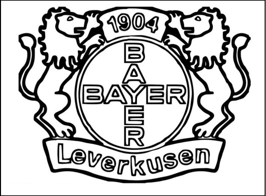 Bayer Leverkusen Soccer Club Logo Clip Art coloring pages