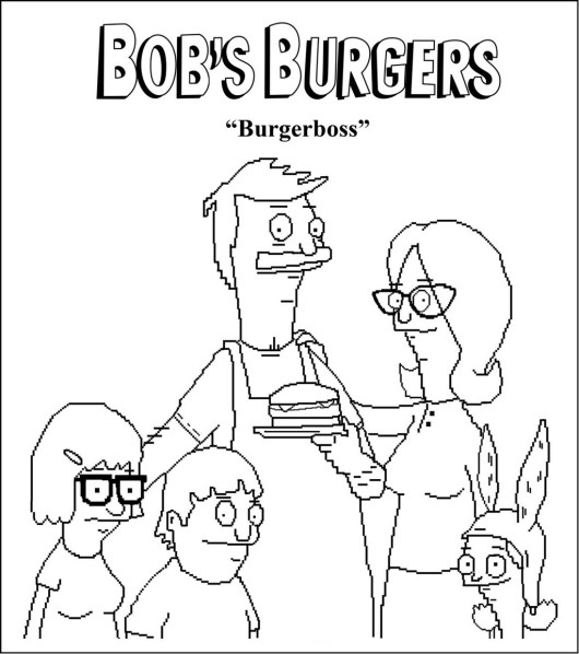 Burgerboss bobs burgers coloring picture