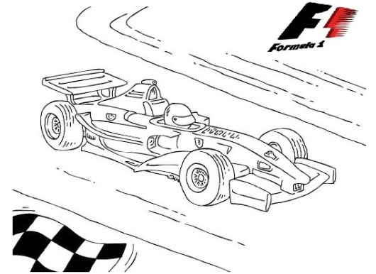 f1 formula 1 race cars coloring pictures - Race Car Coloring Pages