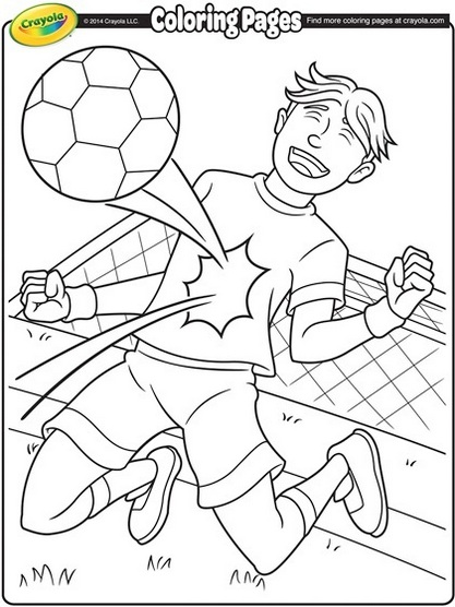 soccer coloring pages for kids to develop their fine motor