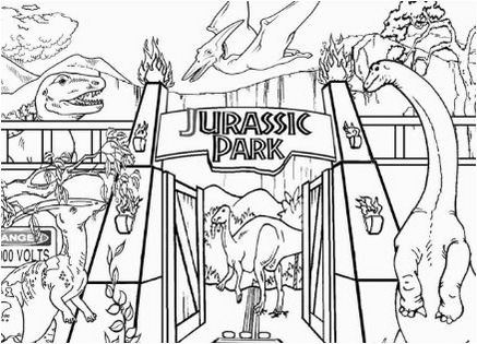 Jurassic Park Coloring Pages will Take your Child Back to
