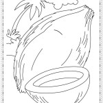 Letter C for Coconut Coloring Sheet
