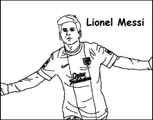 Lionel Messi Coloring Sheets Coloring Pages
