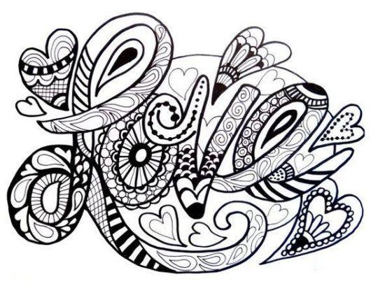 Love Zentangle Pictures Designs