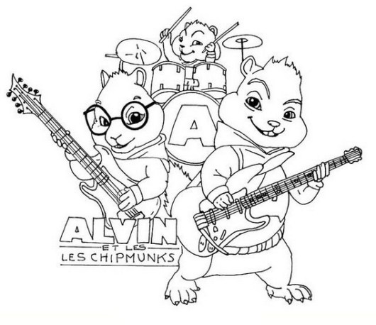 alvin and the chipmunks the road chip coloring picture