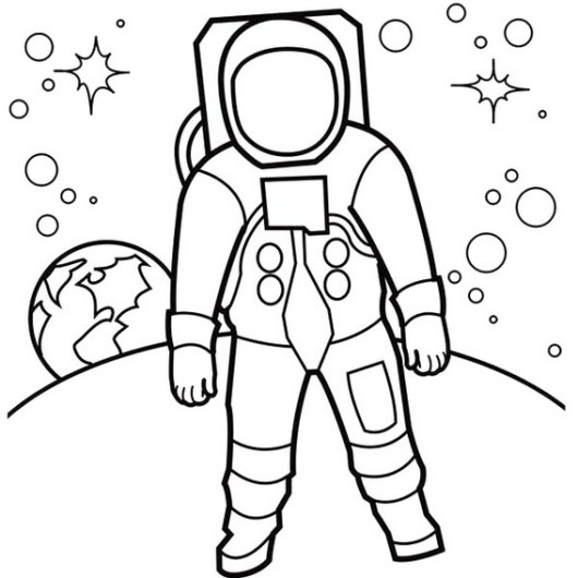 astronaut coloring pages print - little and realistic astronaut coloring pages coloring pages