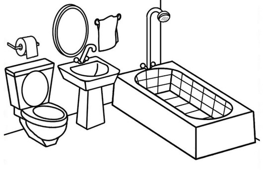 Modern And Clean Bathroom Coloring Page Coloring Pages