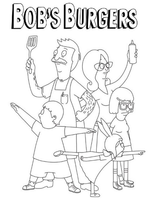 bobs burgers coloring sheet online