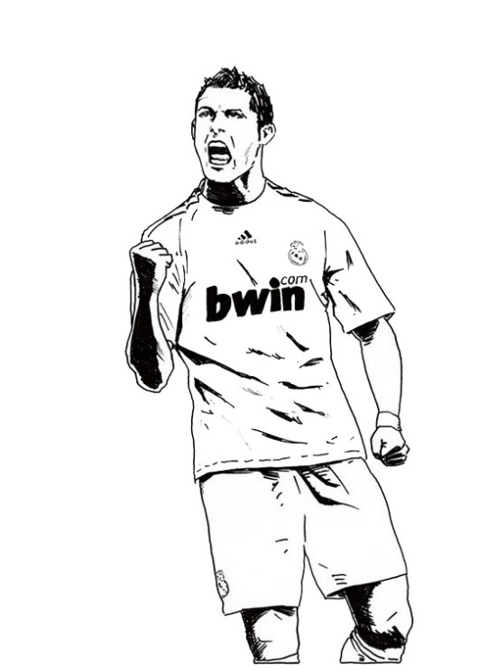 soccer star messi coloring pages - photo#31