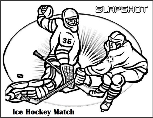 hockey match coloring picture