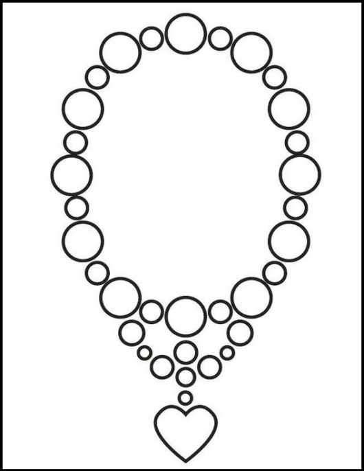 jewelry necklace wedding coloring picture