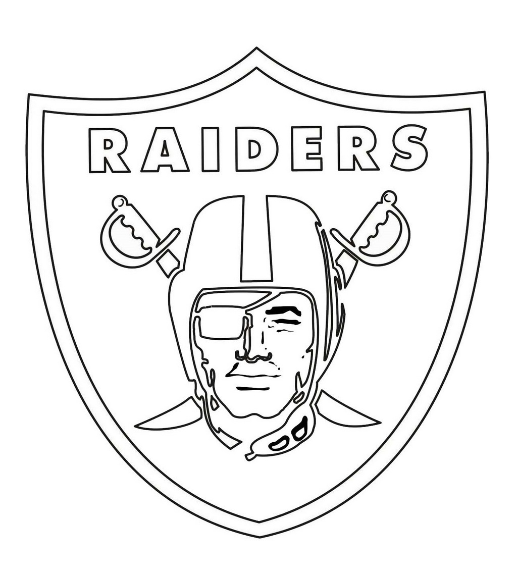 raiders coloring pages - oakland raiders field pages coloring pages