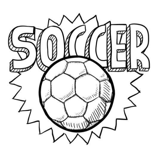 soccer ball coloring picture