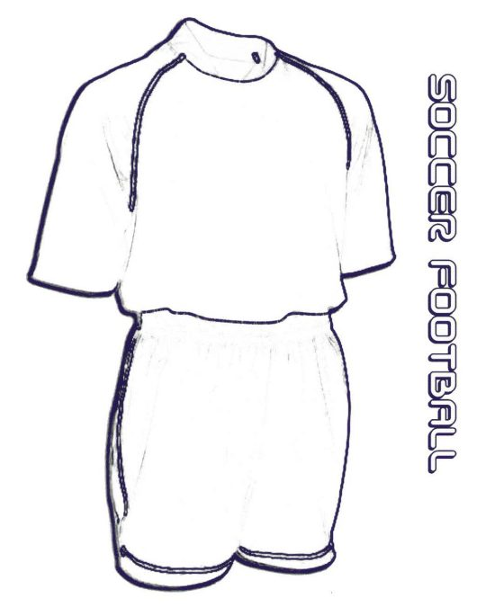 The Best Sketch Drawing of Soccer Jersey Coloring Pages - Coloring ...