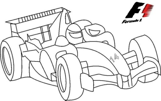 sport car formula one coloring page