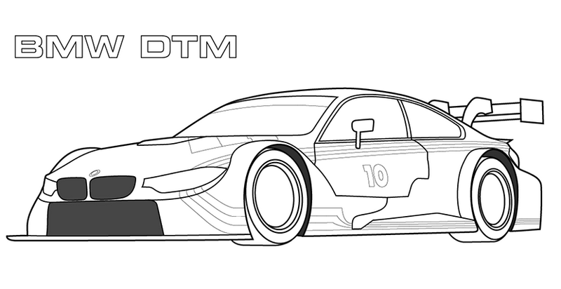 Bmw M3 Dtm Sketch Coloring Page
