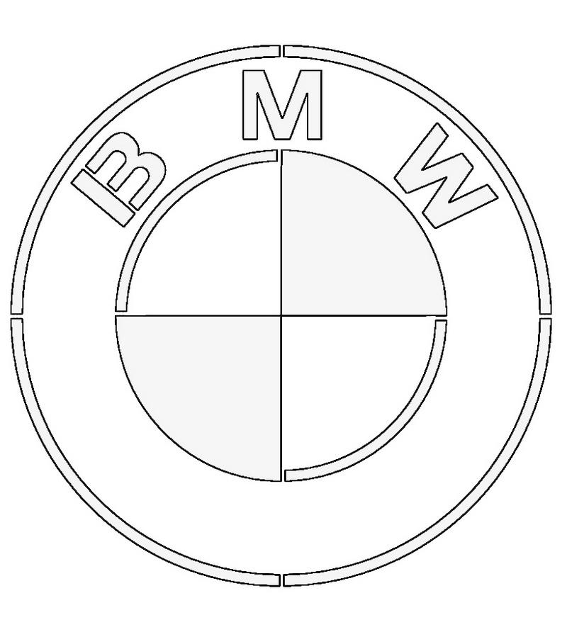 BMW brand logo coloring sheet
