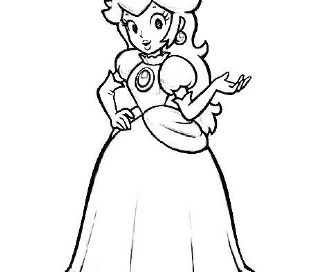 Top  Beautiful Princess Peach Coloring Pages For Girls Coloring