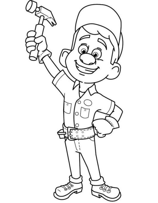 Fix It Felix disney from wreck it ralph coloring sheets
