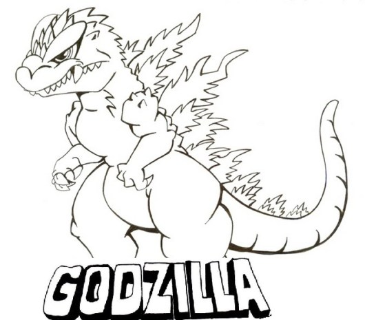 Come To Godzilla Coloring Pages And Meet These Amazingly