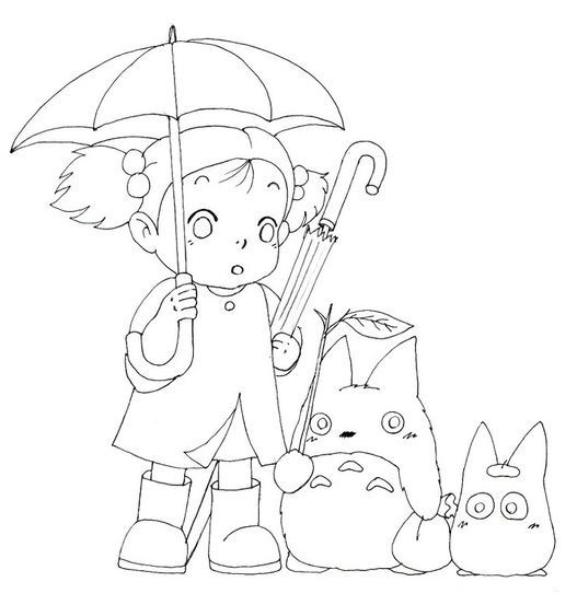 My Neighbor Totoro Fantasy Film Coloring Page - Coloring Pages