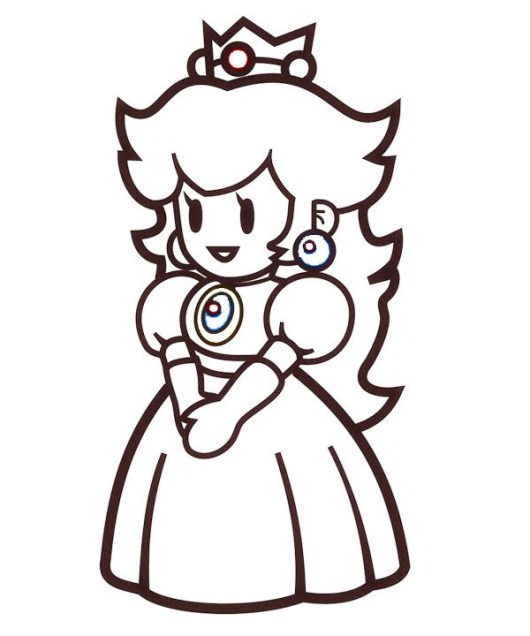 Top 6 Beautiful Princess Peach Coloring Pages For Girls