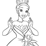 Princess Tiana Coloring Disney Pictures