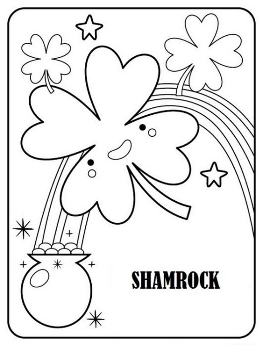 Shamrock ireland coloring sheet
