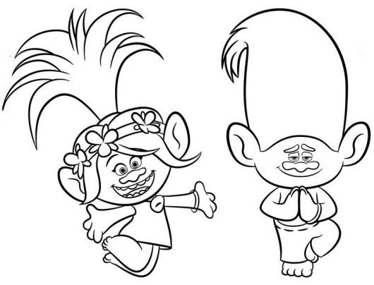 Troll dolls coloring sheet printable