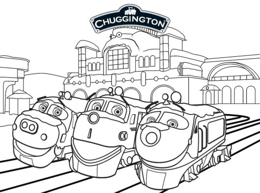 Wilson koko and brewster from chuggington coloring sheet for Chuggington coloring pages