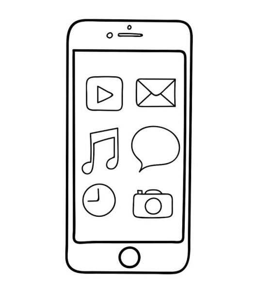 iphone emoji coloring pages - top 7 iphone coloring pages coloring pages