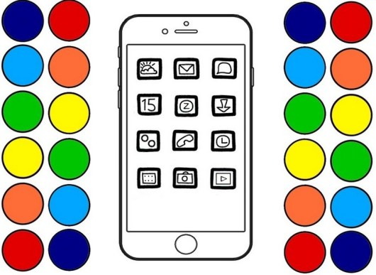 iphone key features coloring page printable