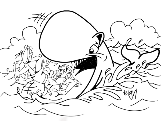 jonah and the giant whale coloring pages printable
