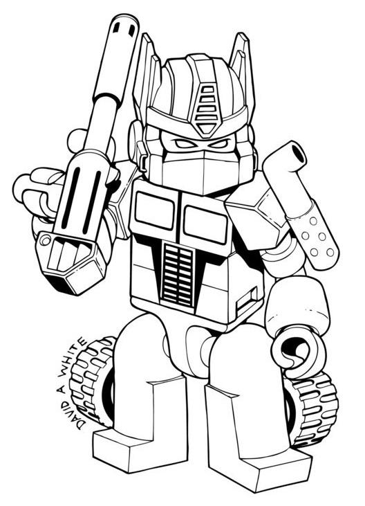 lego optimus prime coloring picture