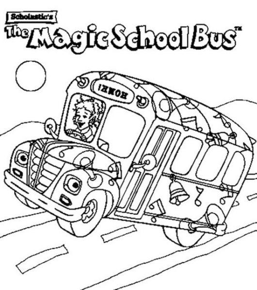 magic school bus coloring pages for kids