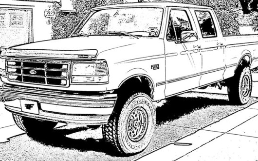 the New Luxo Ford Truck Coloring Pages Coloring Pages