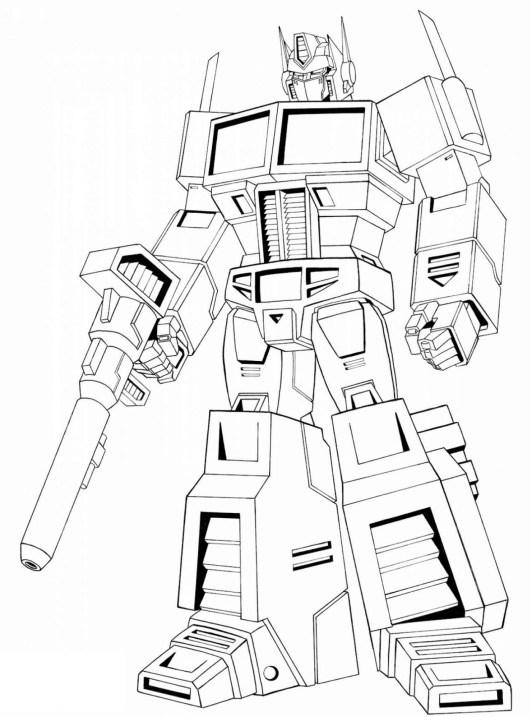 optimus prime autobots coloring sheet