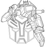 optimus prime from transformers coloring page