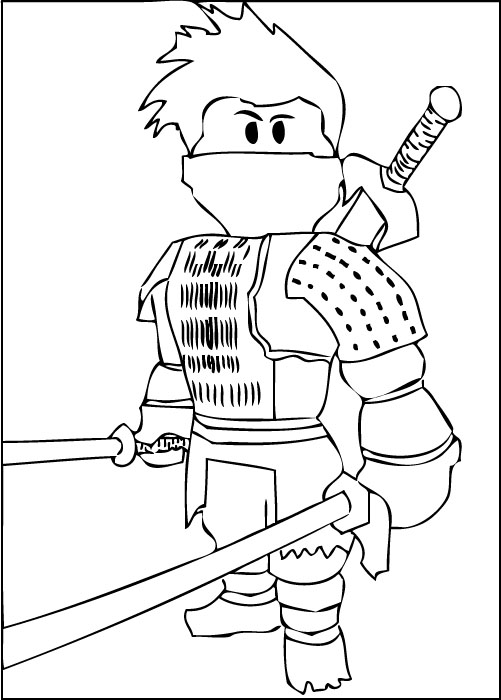 roblox ninja coloring sheet